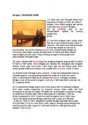 English Worksheets: Engineering: Bridges