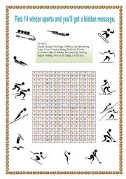 English Worksheets: WINTER OLYMPIC SPORTS