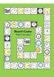 English Worksheets: Board game-What`s the time?