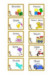 English Worksheet: Toys Flashcards (Toy Story Theme)