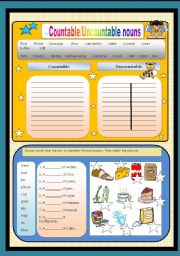 English Worksheets: Countable-Uncountable Nouns