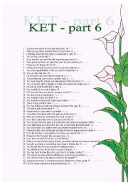 Vocabulary for KET exam