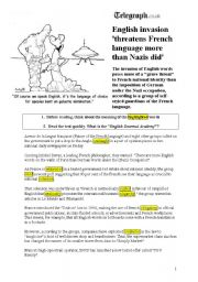 English Worksheets: English Invasion