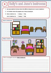 Pairwork: Sally´s and  Jane´s bedrooms part 3 (out of 3)