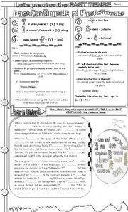English Worksheet: PAST SIMPLE OR PAST CONTINUOUS? Grammar guide + reading, fill in the gaps, wh-questions.