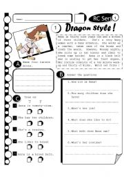 English Worksheets: RC Series 16 - Dragon Style (Fully Editable + Answer Key)