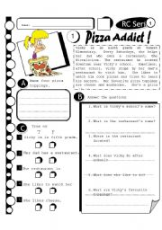 RC Series 17 - Pizza Addict (Fully Editable + Answer Key)