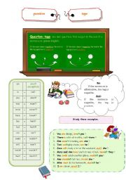 English Worksheets: Question-tag:  study-guide