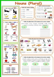 English Worksheet: NOUNS (PLURAL)