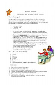 English Worksheet: How to write a book report?