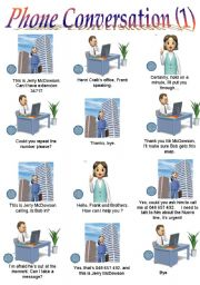 English Worksheet: PHONE CONVERSATION 1