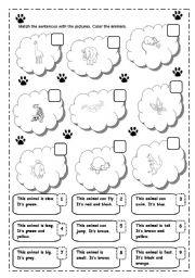 English Worksheets: MATCHING ANIMALS