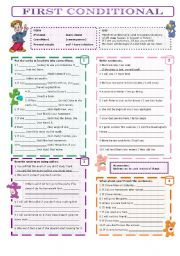 English Worksheet: first conditonal (with key)