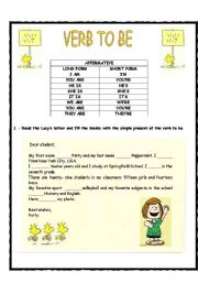 Verb to be - long and short form (affirmative form)