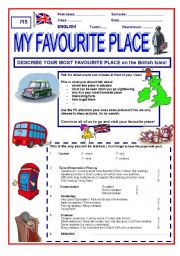 English Worksheet: Speaking skill: My most favourite place on the British Isles