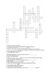 English Worksheet: From British History - Crossword puzzle