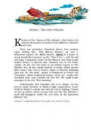 English Worksheets: venice. the new atlantis