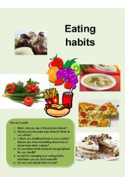 Eating Habits  Esl Worksheet By Toandfro Eating Habits Worksheet