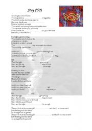English Worksheets: Stay - U2