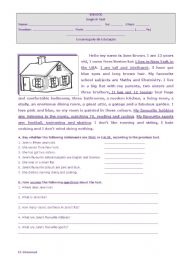English Worksheet: Houses and homes