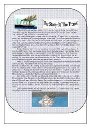 English Worksheet: TITANIC