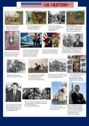 English Worksheets: US History, Key Moments