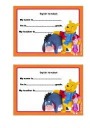 English Worksheet: NOTEBOOK COVER 3