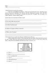 English Worksheets: Answer the questions about the text