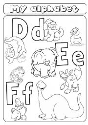 My alphabet - letters d e f - animals - ESL worksheet by ...