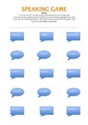 English Worksheets: Speaking Game!
