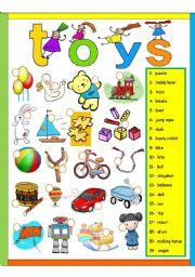 English Worksheet: Toys - Exercise