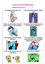 English Worksheet: If Clause: Second Conditional