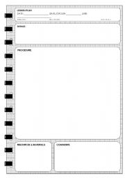 English Worksheet: LESSON PLAN TEMPLATE