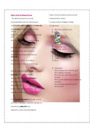 English Worksheet: Barbie Doll - poem