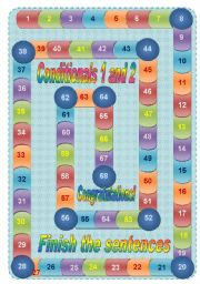 English Worksheet: Pipes boardgame  + 68 cards - Conditionals 1 and 2 - 5 pages (fully editable)