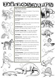 english teaching worksheets dinosaurs. Black Bedroom Furniture Sets. Home Design Ideas