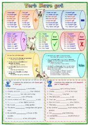 English Worksheet: Verb Have got
