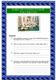 English Worksheet: Inside the continent Europe - Italy (part 2 of 2) (5 pages)