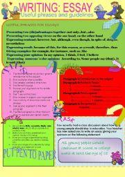 writing essays worksheets english worksheet writing essay