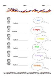 English Worksheets: Feeling