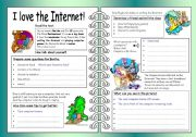 Four Skills Worksheet - I love the Internet!