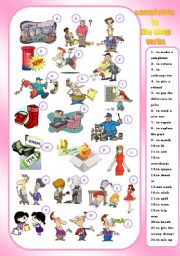 English Worksheet: COMPLAINTS IN THE SHOP - verbs - matching
