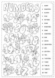 math worksheet : english teaching worksheets numbers 1 20 : Number Worksheets For Kindergarten 1 20