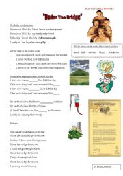 English Worksheets: Red Hot Chili Peppers - Under the Bridge SONG