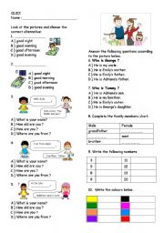 Quiz for 4th grade pupils
