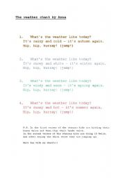 English Worksheet: the weather chant