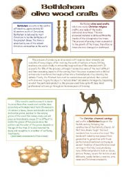 English Worksheets: What do you know about Palestine? part2 - Bethlehem olive wood crafts
