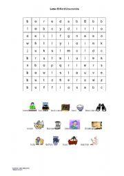 English worksheet: letter B wordsearch