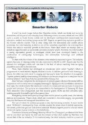 Test on Robotics - Smarter Robots