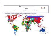 English Worksheets: English world